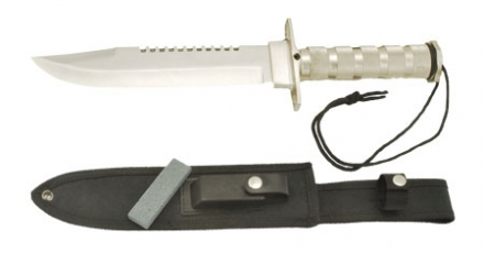 Anglo Arms Silver Rambo Style Knife