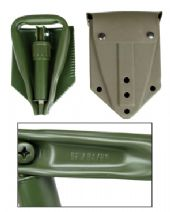 Genuine EX NATO 3 Way Folding Shovel + Case