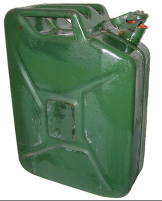 Genuine German Military 20l Jerry Can - Used Diesel