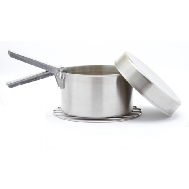 Kelly Kettle Small Cook Set (Stainless) For Trekker Model