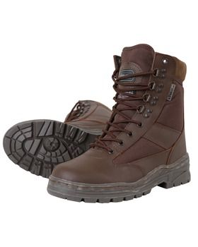 Kombat UK BROWN Patrol Boots - Half Leather With Thinsulate Lining