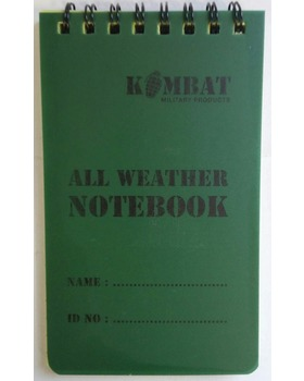 Kombat UK Mini Waterproof Notepad