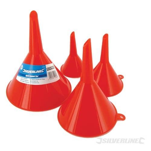 Silverline 4pc Funnel Set