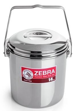 Zebra Head 14cm loop handle billy can cooking pot